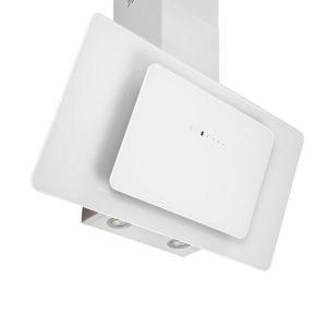 Απορροφητήρας Fierro 065023201 Pyramis 90cm Χρώμα Λευκό Γυαλί