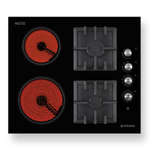Εστία Κεραμική Και Γκαζιού Pyramis 030013201 Cast Iron