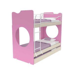 Παιδική Κουκέτα Alfa Set Joy Με Δύο Κρεβάτια Για Στρώμα 90x200