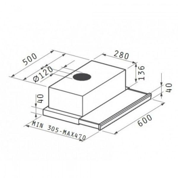 Απορροφητήρας Συρόμενος Maidtec by Pyramis 065006901 60cm Χρώμα Inox