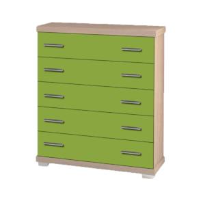 Συρταριέρα Παιδική 80x45x90cm Με 5 Συρτάρια Δρυς-Λαχανί