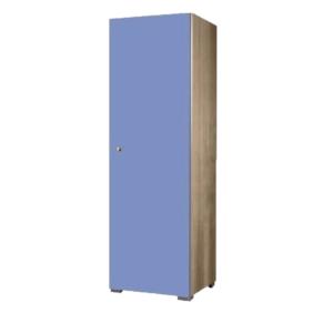 Παιδική Μονόφυλλη Ντουλάπα 48x50x180cm Δρυς-Μπλε