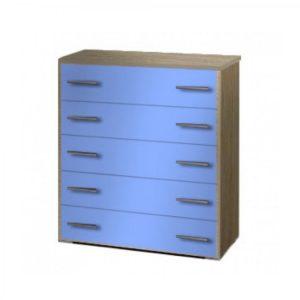Συρταριέρα Παιδική 80x45x90cm Με 5 Συρτάρια Δρυς-Μπλε