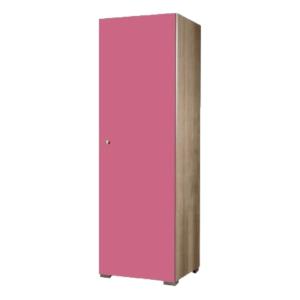 Παιδική Μονόφυλλη Ντουλάπα 48x50x180cm Δρυς-Ροζ