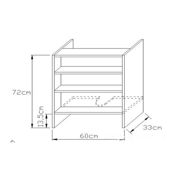 Κουτί Κουζίνας Κρεμαστό Απορροφητήρα 72x33cm