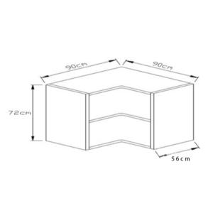 Κουτί Κουζίνας Βάσεως Γωνιακό 90x90cm