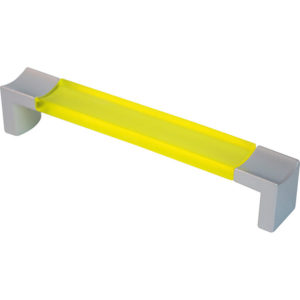 Λαβή 182-2405ΑΜ128 Marm 128mm Κίτρινη Amarillo Με Βάση Νίκελ Ματ