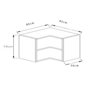 Κουτί Κουζίνας Βάσεως Γωνιακό 80x80cm
