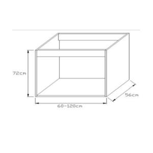 Κουτί Κουζίνας Βάσεως Νεροχύτη 72x45cm