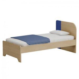 Παιδικό Κρεβάτι Alfa Set Duomo Express Collection Μονό Για Στρώμα 90x190 Δρυς Φυσικό-Μπλε