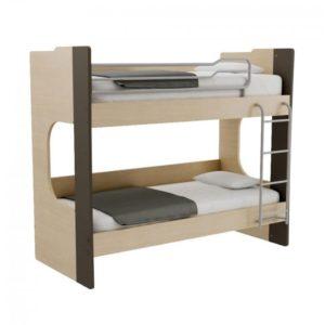 Παιδική Κουκέτα Alfa Set Mavin Με Δύο Κρεβάτια Για Στρώμα 90x200 Δρυς Φυσικό-Ανθρακί