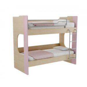 Παιδική Κουκέτα Alfa Set Mavin Με Δύο Κρεβάτια Για Στρώμα 90x200 Δρυς Φυσικό-Λιλά