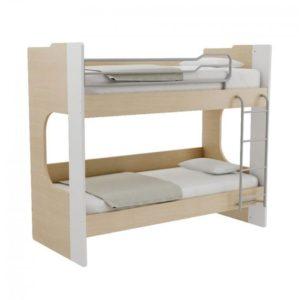 Παιδική Κουκέτα Alfa Set Mavin Με Δύο Κρεβάτια Για Στρώμα 90x200 Δρυς Φυσικό-Λευκό