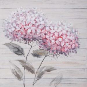 Πίνακας με STRASS, Ροζ λουλούδια, 80x80 εκ. W-140847B